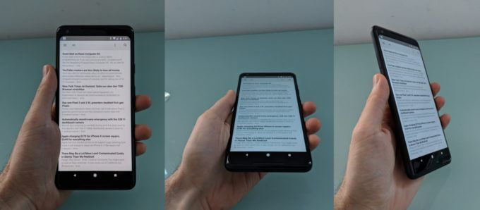 Example of blue shifting on AMOLED smartphones.