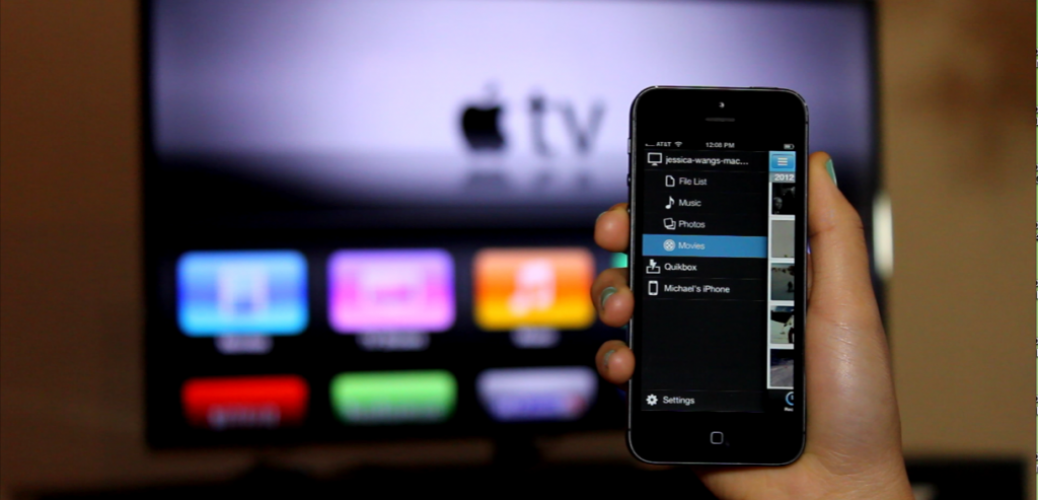 apple tv connected to iphone