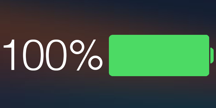 battery percentage iphone