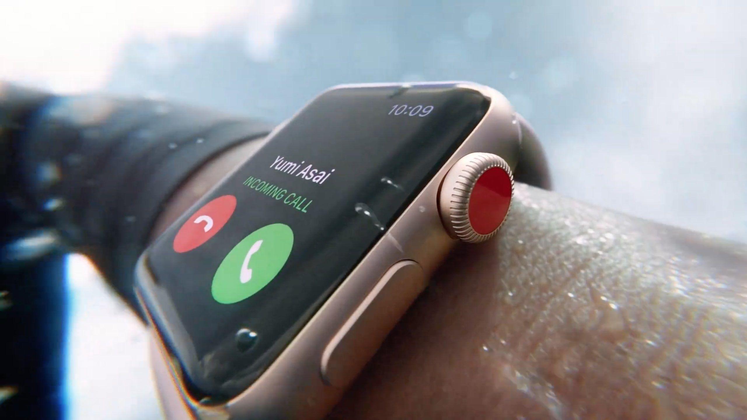 apple watch eject water