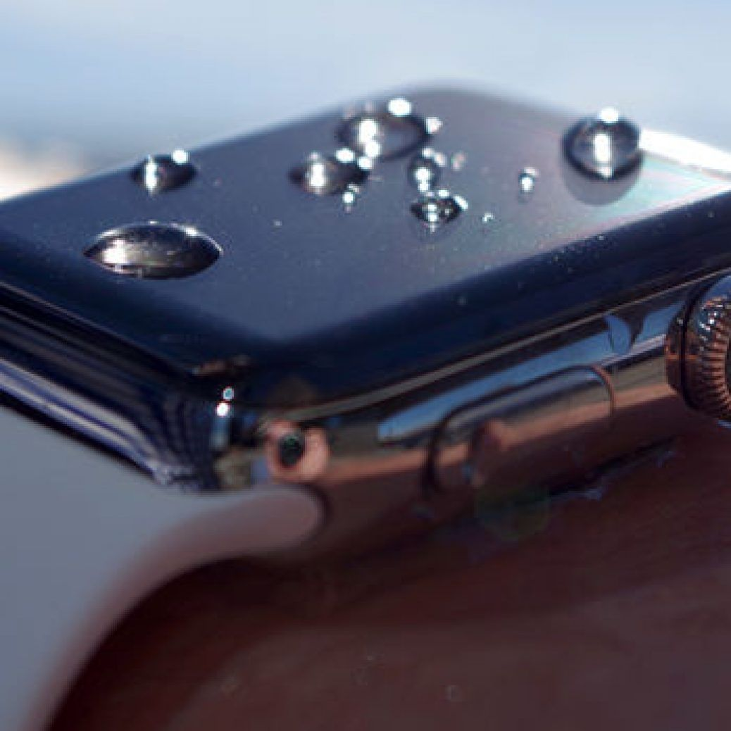 apple watch gets wet
