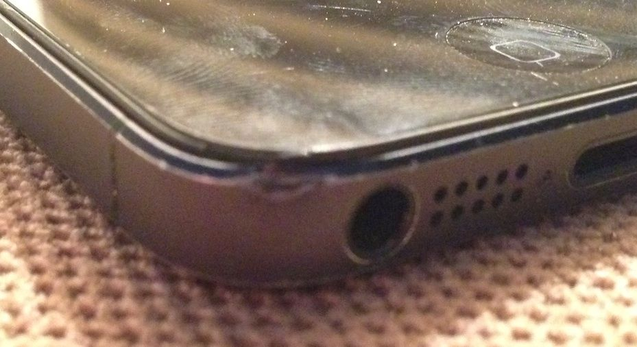 dented iphone