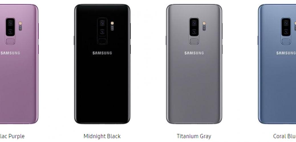 samsung galaxy s9 colors