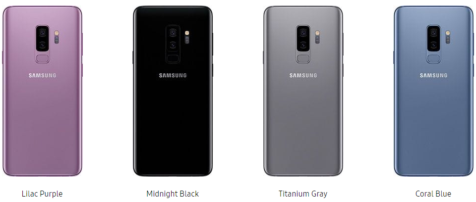 samsung galaxy s9 colors