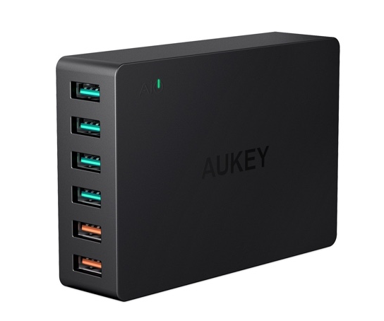 aukey 60w usb desktop charger