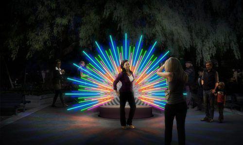Peacock Vivid Sydney