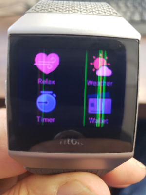 Before / After Fitbit Ionic Screen Replacement