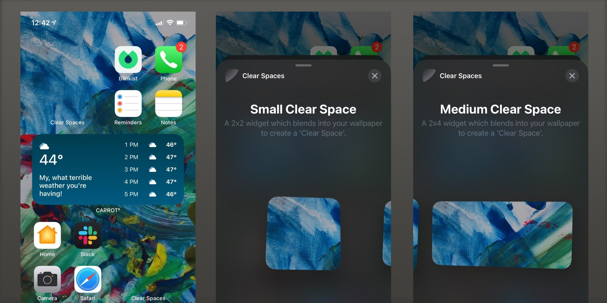 ❤ 'Clear Spaces' app brings transparent widgets to your iOS 14 home screen