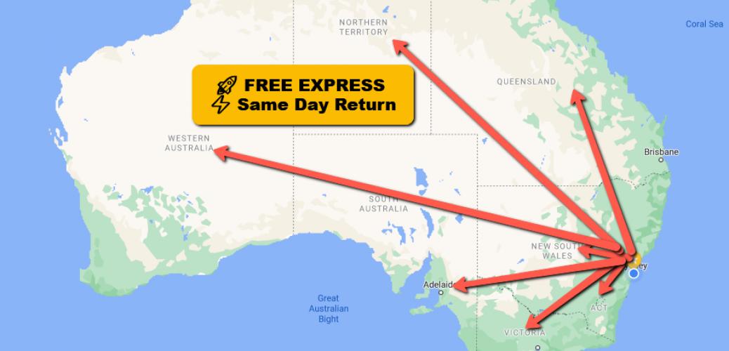 Australia-Same-Day-Return-Free-Express-From-Sydney