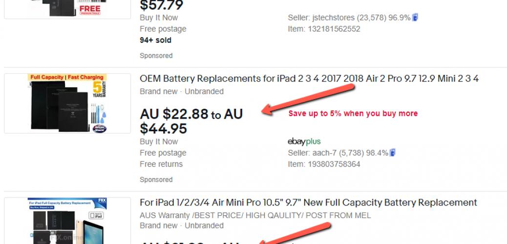 ebay-ipad-battery-price
